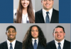 (From top left) Sarah Vasquez, Travis Seefeldt, Adewale Adeoye, Edmud Fiamalo, John Taylor. Photo courtesy: Utah State Athletics.