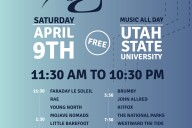 Logan City Limits Music Festival featuring Smallpools, The National Parks, Westward the Tide and many local bands from Utah, Las Vegas and California. Utah State University April 9th, 2016.